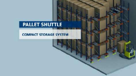 Pallet Shuttle, poloautomatický systém skladování