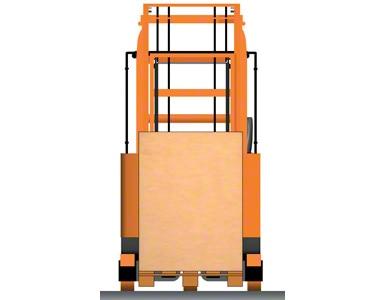 Retrak s paletou mezi podpůrnými rameny - uvnitř podvozku