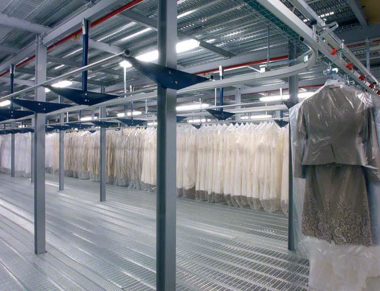 Řešení pro oblečení na ramínkách.