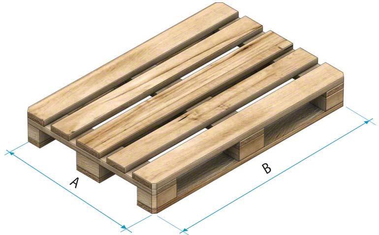 Dřevěná paleta typu 1