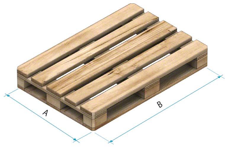 Dřevěná paleta typu 2