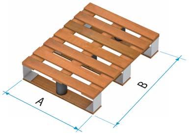 Dřevěná paleta typu 5A