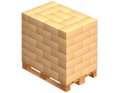 Pro správnou přípravu palet k přepravě je možné zboží, které se na nich nachází, uložit se střídavým proložením
