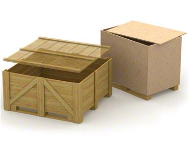 Spodní vodítka dřevěných paletových beden mohou být příliš slabá a mít malou pevnost, protože jsou obvykle určená pro jednorázovou přepravu bez vracení.