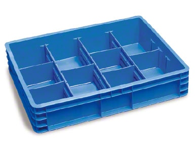kontejner je možné rozdělit přepážkami na menší části a umístit v něm několik referencí bez jejich smíchání
