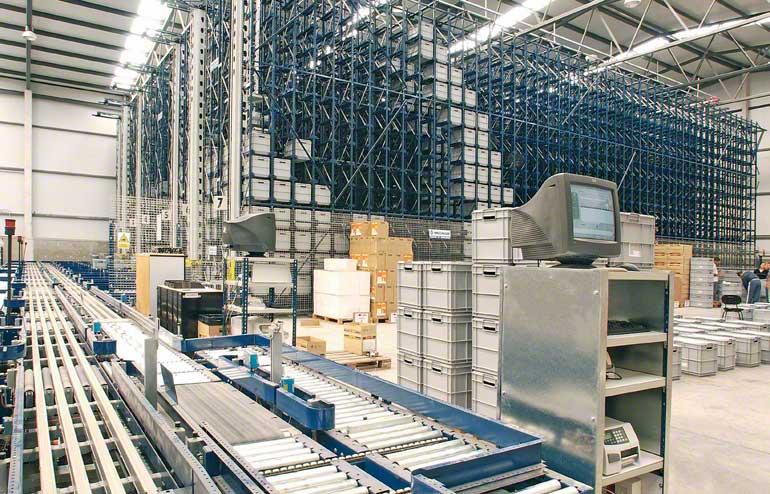 Sklad určený pro malé železné výrobky a montážní komponenty.