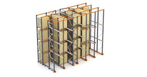 Vjezdové regály - akumulační systém skladování palet